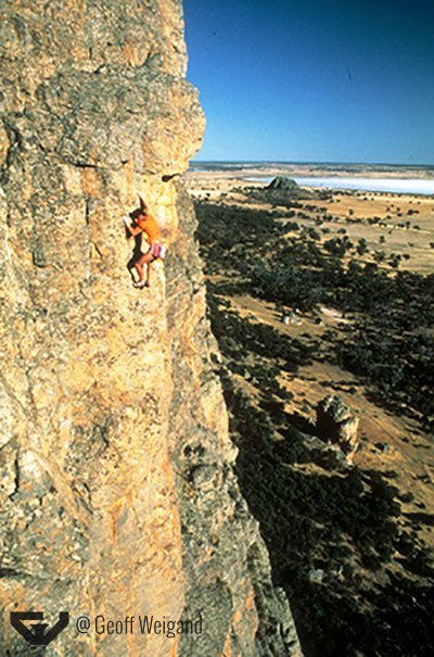 Geoff Weigand Free Solo Down FA Weigands Bluff Arapiles