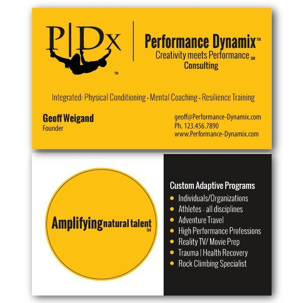 Performance Dynamix - business card - logo